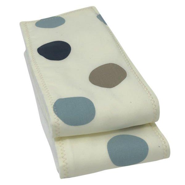 Stormy Blue Dot Organic Cotton Burp Cloths