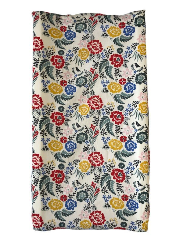 Boho Floral Organic Changing Pad Cover