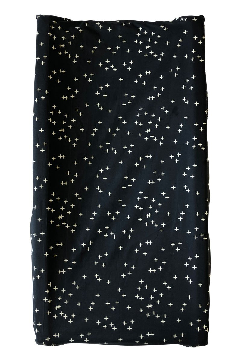 Navy Twinkle Organic Changing Pad Cover