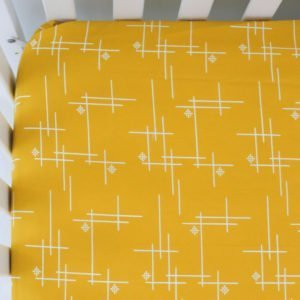 Marigold Starburst Organic Fitted Crib Sheet